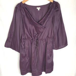 Anthropologie Odille Purple Cowl Tunic Cecile 6